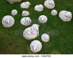 and sheep garden ornaments uk stock photo royalty free
