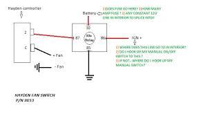 wiring electric fan with hayden sensor third generation f body