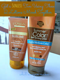 All Natural Sunless Tanning Lotion Tan Using Two Lotions Together