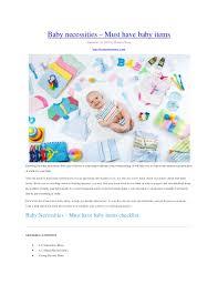 newborn baby necessities baby necessities must baby items