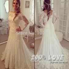 Thai Wedding Dress Turmec Long Sleeve Lace Wedding Dress Aliexpress