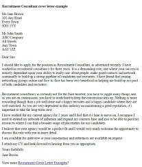 trend cover letter for recruitment consultant position 22 for your