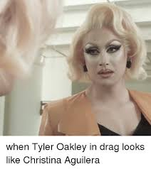 Christina Aguilera Meme - when tyler oakley in drag looks like christina aguilera meme on me me