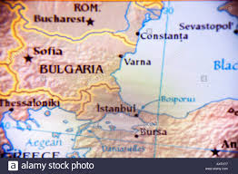 Eastern Europe Political Map by Close Up Map Of The Countries Of Bulgaria And Romania In Eastern