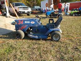 suped up lawn mower for racing with the virginia lawn mower racing