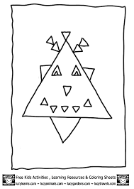 triangle coloring pages getcoloringpages