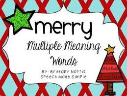 merry meaning words by speech made simple tpt