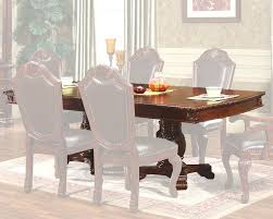 expandable pedestal dining table in classic cherry mcfd5006 t