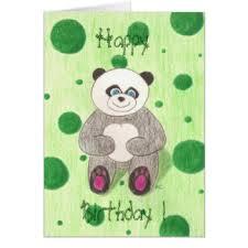 cute panda birthday greeting cards zazzle co uk