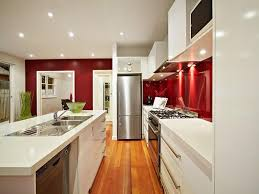 gallery kitchen ideas modern galley kitchen design using stainless steel kitchen photo