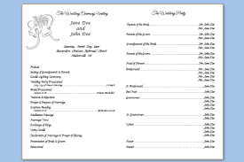 trifold wedding program template wedding programs free templates images resume ideas