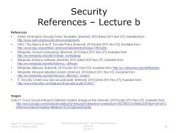 Sans Policy Templates by Introduction To Information And Computer Science Security Lecture