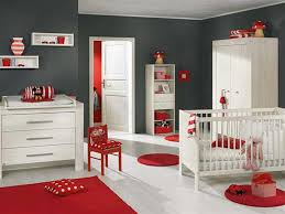 bedroom cute baby room with peach wall paint and single white