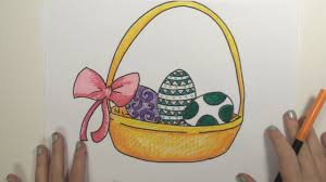 how to draw easter basket mlt youtube