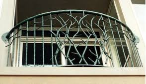 hand forged iron balcony rail
