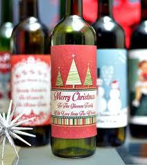 Wine Christmas Gifts Personalised Christmas Wine Label Wine Labels Personalised