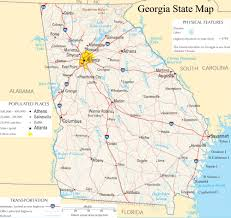 Augusta Ga Map Georgia State Map A Large Detailed Map Of Georgia State Usa