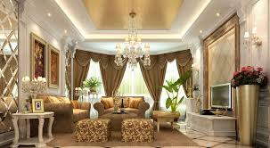 luxurious living room design with gold 2017 including hanging