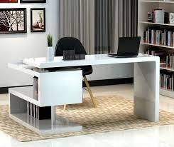 modern glass work desk home office desk modern amazon com tribesigns computer desk 47