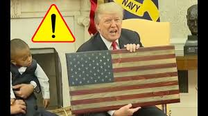 Made In China American Flags Man Hands Trump The Only Wooden American Flag Made In America And