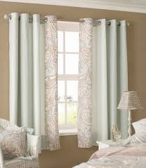 amazing sky blue color scheme bedroom curtains with white wood