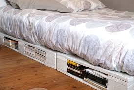 Wood Bed Frame With Drawers Plans Bed Frames Pallet Bed With Storage Tutorial How To Make A Pallet