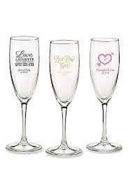 personalized glasses wedding chagne glasses and toasting flutes david s bridal