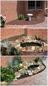 diy backyard pond u0026 landscape water feature oh my creative