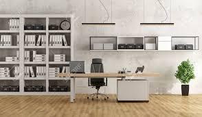 biblioth ue avec bureau bureau moderne en noir et blanc avec bureau et bibliothèque rendu