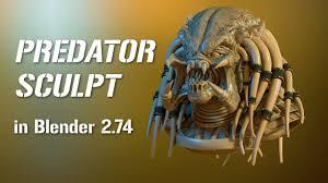 tutorial for blender 2 74 predator 3d sculpt in blender 2 74 sculpting rzeźbienie w