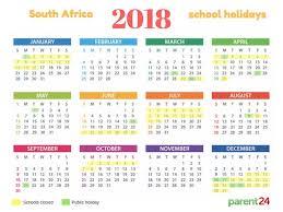 2018 Calendar Islamic Printable 2018 Sa School Calendar Parent24