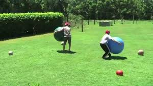 fit ball rugby in the backyard youtube
