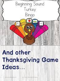 beginning sound turkey bingo and other thanksgiving ideas