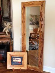 full length mirror in pecky cypress wood frame home decor