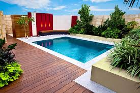 modern small backyard pool ideas complete with lounger pool