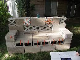 cinder block bench garden furniture decor trend inexpensive