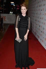 julianne moore a list star charms tiff crowds in hugo boss jumpsuit