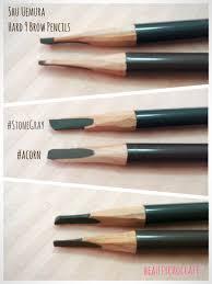 How To Pencil In Eyebrows Review Shu Uemura U2013 Hard 9 Formula Brow Pencils In Acorn