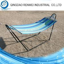 heavy duty outdoor portable steel camping hammock with stand