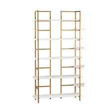 gold shelves and bookcases bellacor