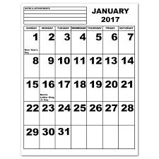 2017 printable calendar large print 2017 calendar printable