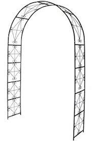 Trellis Arch Amazon Com Vonhaus Dark Green Metal Garden Arbor Trellis Arch