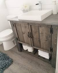 Rustic Bathrooms I U0027m Liking The Rustic Vanity Here Hmmm Too Much U2026 Pinteres U2026