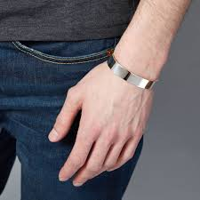 wrist cuff bracelet images Men 39 s solid silver cuff bracelet hand made by hersey silversmiths jpg
