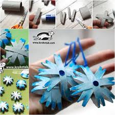 wonderful diy snowflake ornaments from paper roll