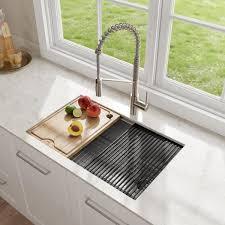 home depot kitchen sink vanity kraus kore workstation 27 in 16 undermount single