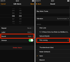 how to set a song as your alarm sound on your iphone