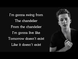 Sia Chandelier Lyric Sia Chandelier Charlie Puth Cover Lyrics Youtube