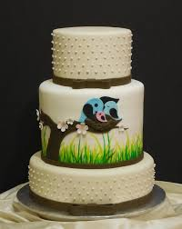 nature themed baby shower cake based on another artist u0027s design