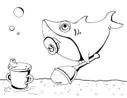 baby shark coloring page shark coloring pages pinterest